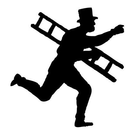 Hombre Escalera decoración con vinilo