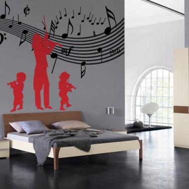 pegatina decorativa Niños Violin