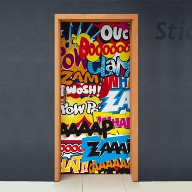 vinilos imagen producto Sonidos Comic para Puerta