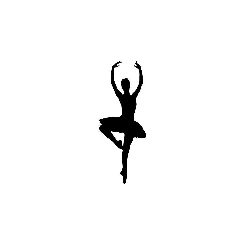 Vinilo bailarina ballet iv for Cartamodello per papillon