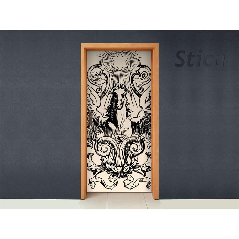 Vinilo tattoo style para puerta - Puertas con vinilo ...