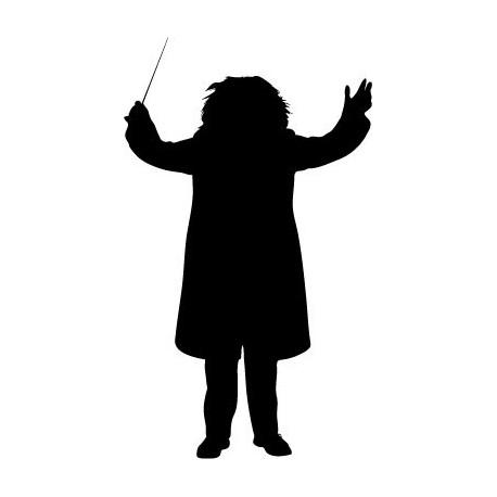 Director Orquesta imagen vinilo decorativo