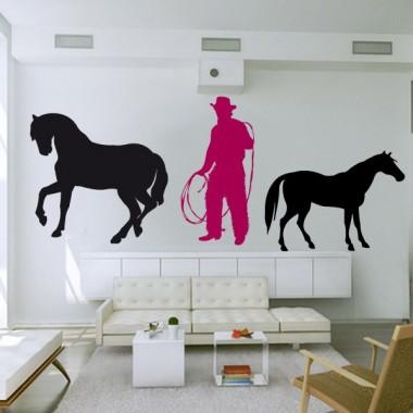 pegatina decorativa Vaquero Motivo