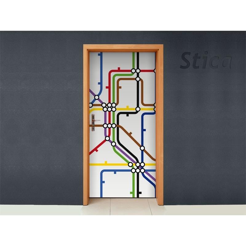 Vinilo metro para puerta - Vinilo para puerta ...