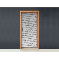 adhesivo decorativo Manuscrito para Puerta