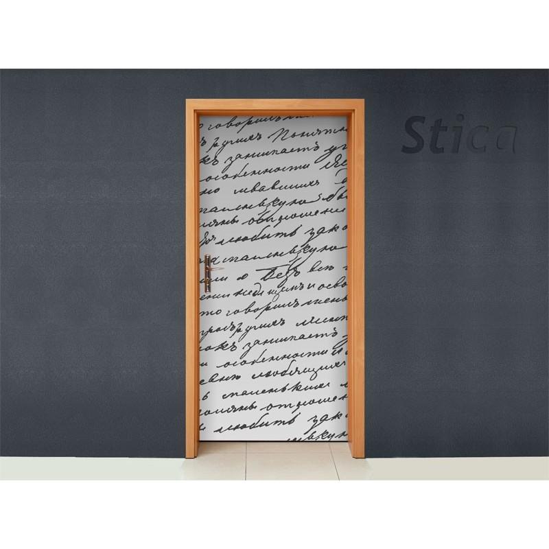 Vinilo manuscrito para puerta - Vinilos para puertas ...