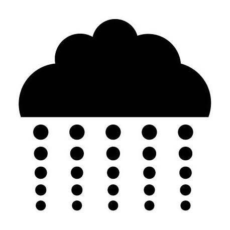 Nube con Lluvia I adhesivo decorativo ambiente