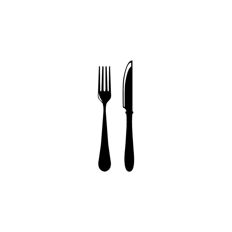 Vinilo tenedor y cuchillo for Tenedor y cuchillo en la mesa