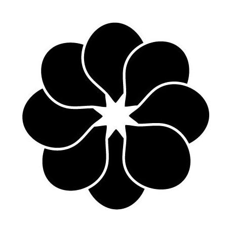 Geometría Floral I decoración con vinilo