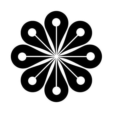 Geometría Floral III adhesivo decorativo ambiente