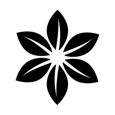 pegatina pared Geometría Floral IX