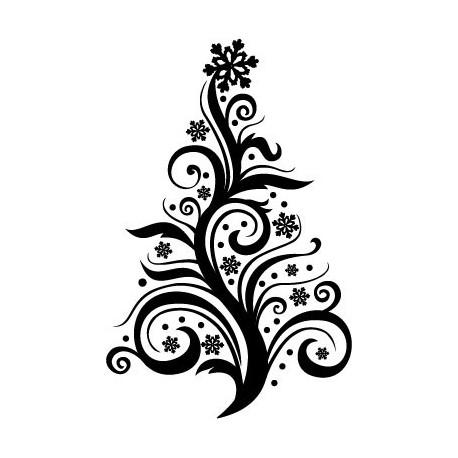 Árbol de Navidad V decoración con vinilo