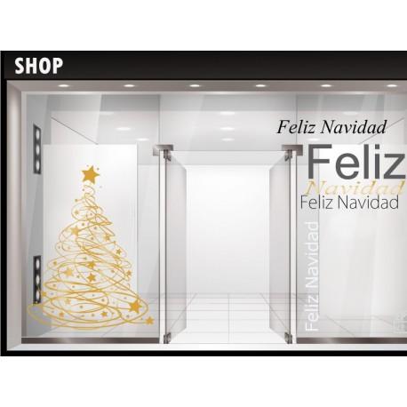 vinilo decorativo Árbol de Navidad VI