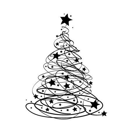 pegatina decorativa Árbol de Navidad VI