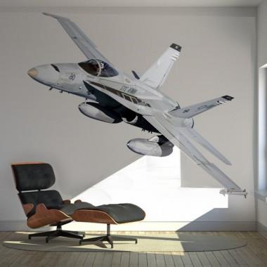 Avión Pegatina V adhesivo decorativo ambiente
