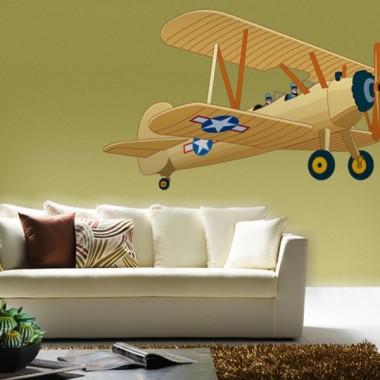 Avioneta Pegatina I decoración con vinilo