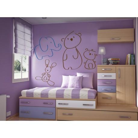 pegatina decorativa Elefante