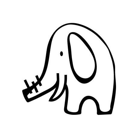 pegatina pared Elefante