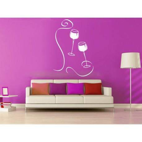 vinilo decorativo Vinilo Copas Vino