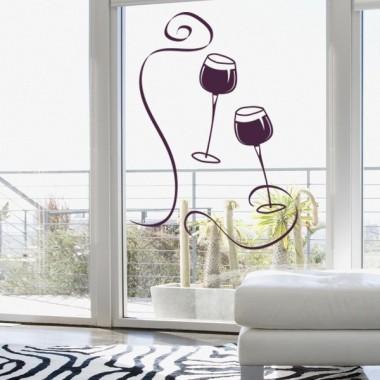 Vinilo Copas Vino producto vinilos
