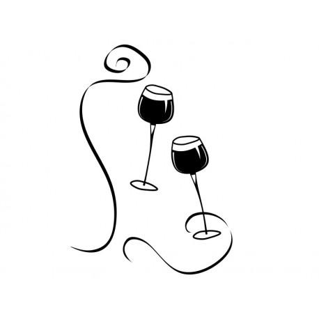 Vinilo Copas Vino decoración con vinilo