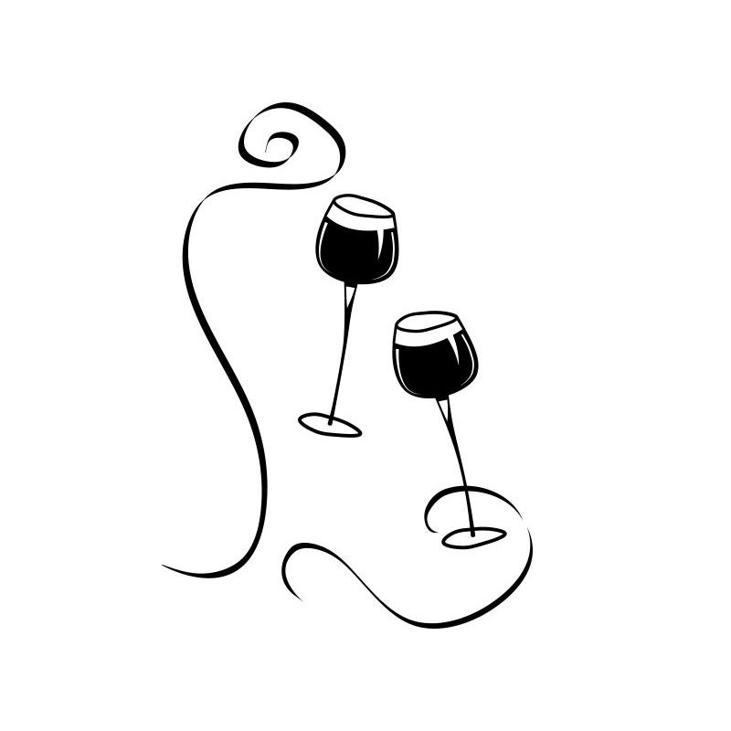 Vinilo copas vino - Dibujos de vinilo para paredes ...