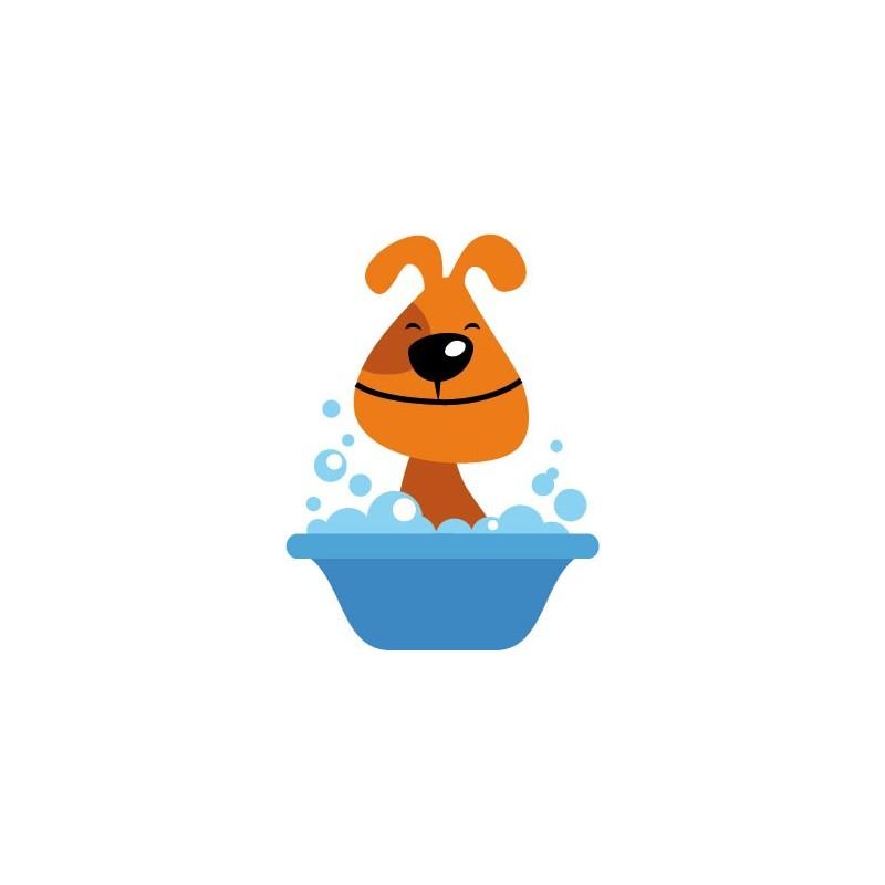 Vinilos Baño Infantil:vinilo decorativo Perro Baño
