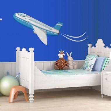 Avión Pegatina VI imagen vinilo decorativo