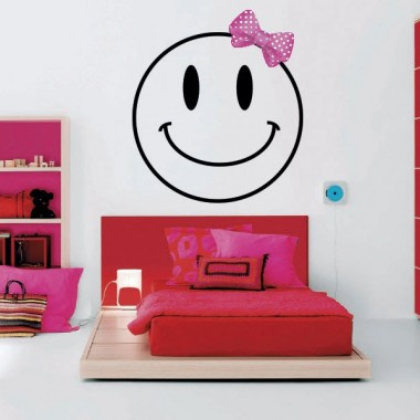 Lazo para Smiley Girl adhesivo decorativo ambiente