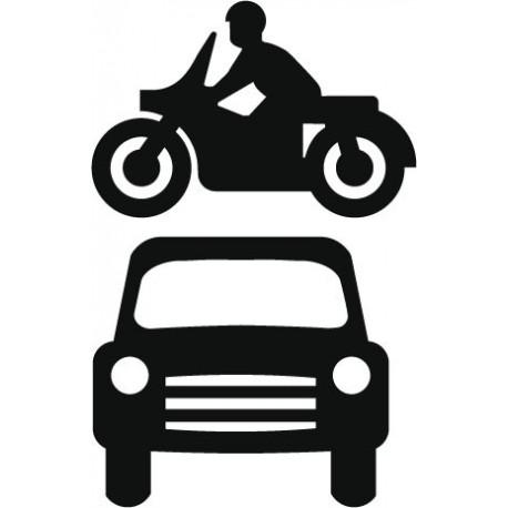 vinilo decorativo Símbolo Aparcamiento Motos y Coches