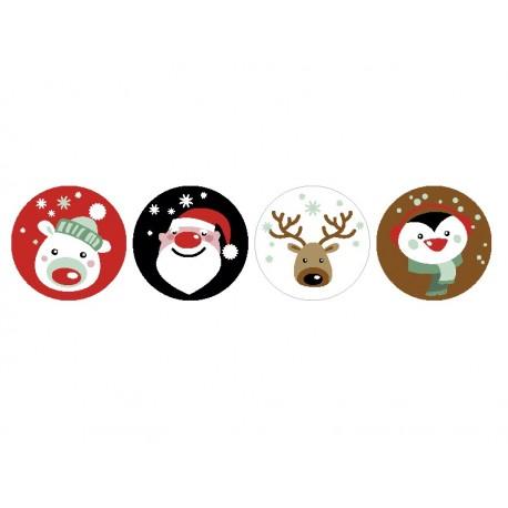 vinilo decorativo Vinilo Navidad Noel Reposicionable