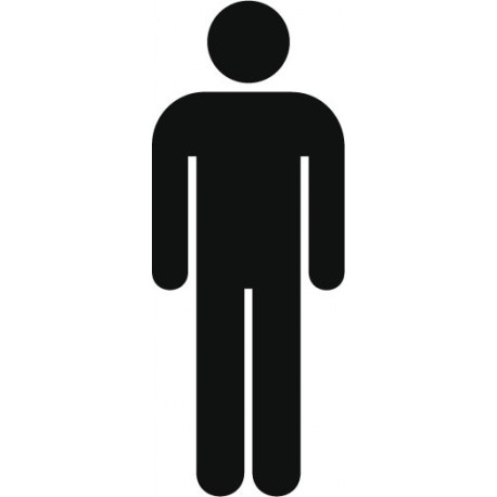 vinilos imagen producto Símbolo Aseo Hombres