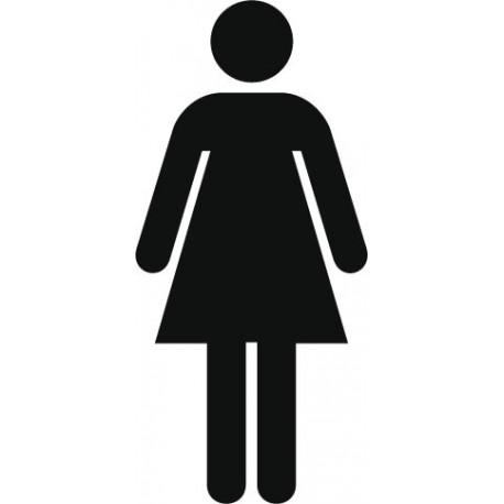 pegatina pared Símbolo Aseos Mujer