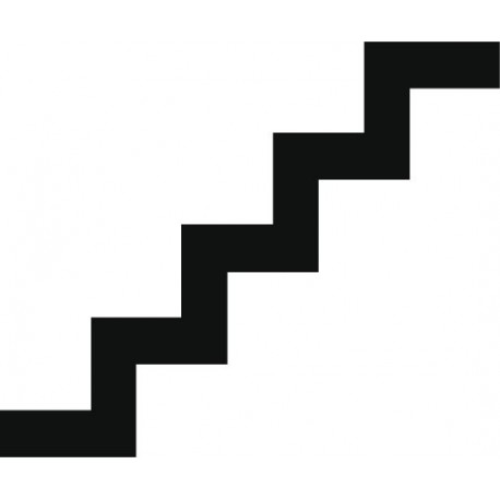 Símbolo Escalera decoración con vinilo