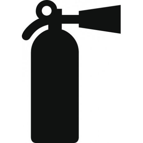 vinilo decorativo Símbolo Extintor