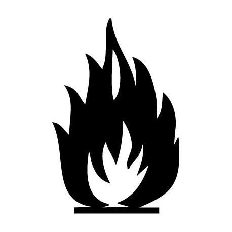 pegatina pared Símbolo Fuego
