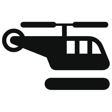 Símbolo Helipuerto decoración con vinilo