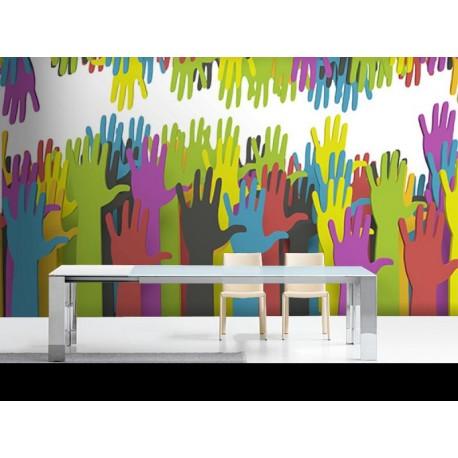 Fotomural Manos Color adhesivo decorativo ambiente