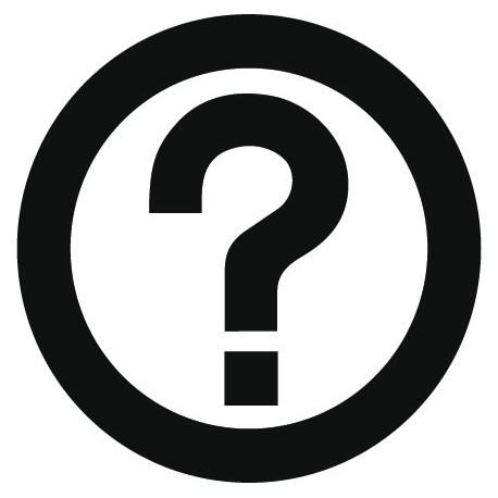 pegatina pared Símbolo Preguntas