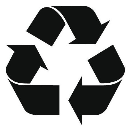 Símbolo Reciclaje decoración con vinilo