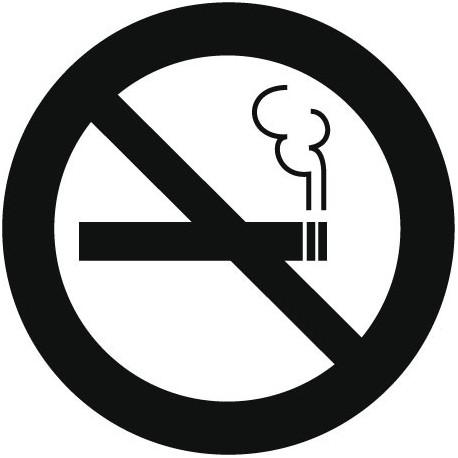 vinilos imagen producto Símbolo Prohibido Fumar