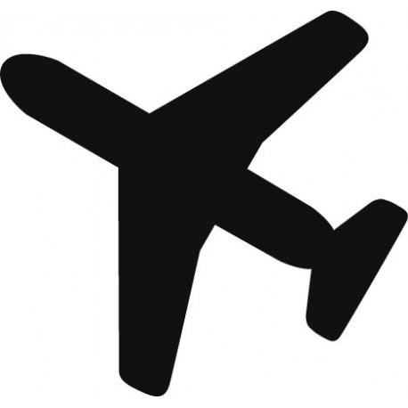 pegatina pared Símbolo Avión
