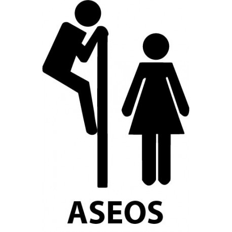 Símbolo Aseos I imagen vinilo decorativo