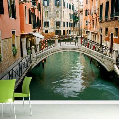 vinilos imagen producto Fotomural Venecia Puente Sobre el Canal