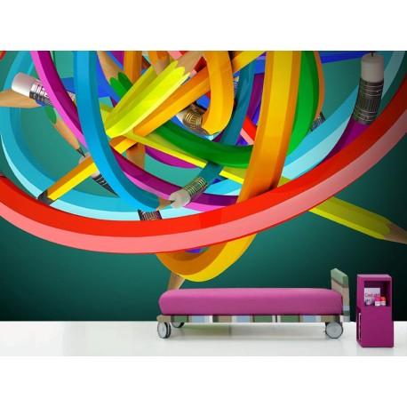 vinilos imagen producto Fotomural Lapiceros Color