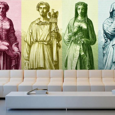 adhesivo decorativo Fotomural Grabado Esculturas