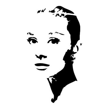 pegatina pared Audrey Hepburn II