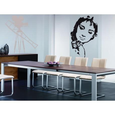 Audrey Hepburn VI adhesivo decorativo ambiente