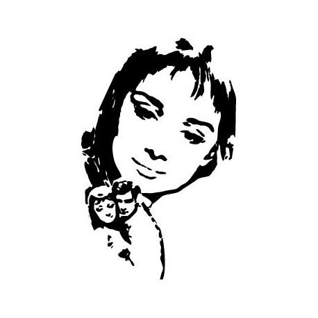 Audrey Hepburn VI decoración con vinilo