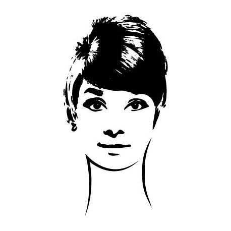 pegatina decorativa Audrey Hepburn VII